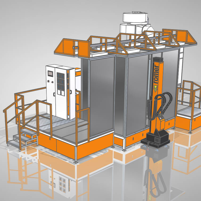 Automatic powder booths