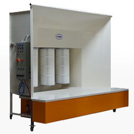 Manual powder booths